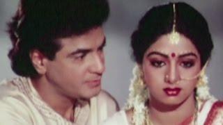 Jeetendra and Sridevi on their first night - Suhaagan, Romantic Scene 5/13