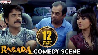 Anushka And Nagarjun Comedy With Brahmanandam In Ragada Hindi Movie