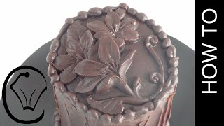 Easy Carved Chocolate Ganache Hack by Cupcake Savvy