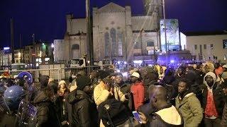 Marcha de inmigrantes en Florencia por la muerte de un vendedor ambulante africano