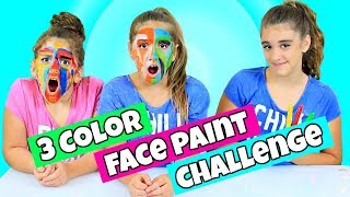 3 Colors of Face Paint Challenge!