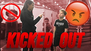 WE BROKE ALL THE RULES!! THIS TRAMPOLINE PARK IS SO STRICT! NO BACKFLIPS OR DOUBLES