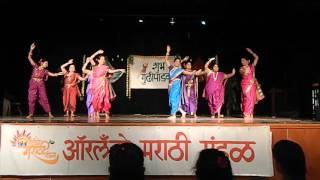 Pinga dance at Orlando Marathi Mandal Padwa 2016