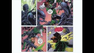 green lantern vs aliens 1 and 2 of 4 (dark horse and DC collaboration)