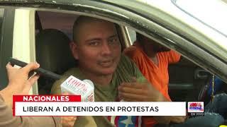 Policía deja en libertad a ciudadanos detenidos durante protestas