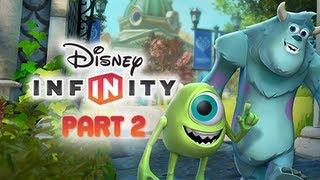Disney Infinity Gameplay Walkthrough Part 2 - Monsters University Play Set World