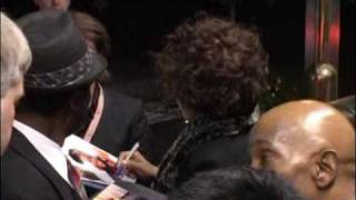 Whitney Houston arriving at the hotel in Germany for wetten dass show