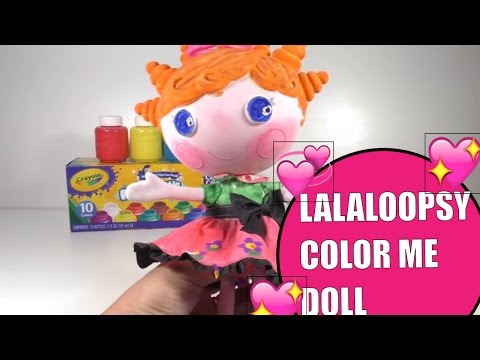Lalaloopsy Color Me Doll Nick Jr. Squiggles Paint With Crayola Washable Paint  kids crafts