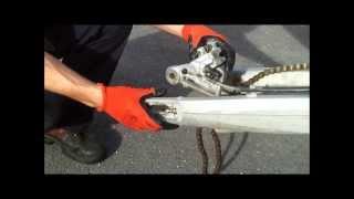 How to remove KTM swingarm
