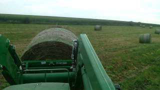 Loading Hay Bales Ride Along
