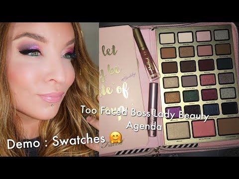 Too Faced Boss Lady Beauty Agenda : Holiday 2017 : Swatches + Demo