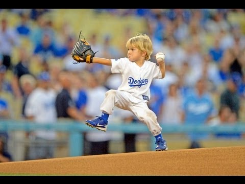 Preschooler throws best first pitch at MLB game Dodgers Baseball Prodigy Christian Haupt