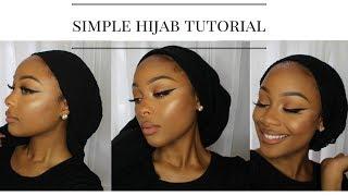 Simple Hijab Tutorial(No pins!!)