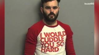 Dude thrown in jail is probably wishing he wore a different shirt