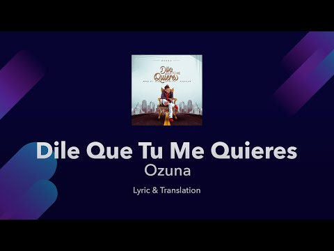 Ozuna Dile que tu me quieres Lyrics English and Spanish Tell them that you love me
