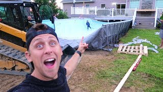 BUILDING HUGE FOAM PIT/POOL!!