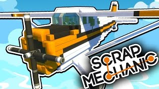 Scrap Mechanic CREATIONS! - THE BEST PLANE EVER?!! [#20] W/AshDubh | Gameplay |