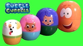 Bubble Guppies Stacking Cups Surprise Eggs Nickelodeon Mr. Grouper & Guppy Puppy by FunToys