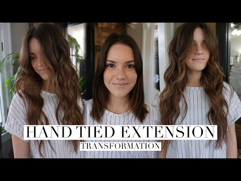 Hand Tied Extensions Transformation || Hair Tutorial