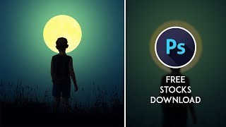 Lonely Night - Silhouette Photoshop Manipulation Tutorial