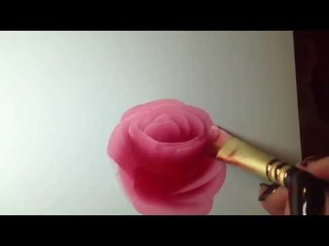 Painting A Rose Eine Rose Malen Mit Acrylfarben