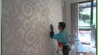 step2 papering - How to hanging wallaper. DIY Wallpaper in Melbourne