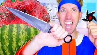 5 Naruto Weapons vs Fruit Ninja