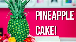 How To Make A PINEAPPLE CAKE! Pineapple Infused Vanilla Cakes with PINEAPPLE BUTTERCREAM!