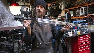 Forging a pattern welded multi fullerd Witcher 3 sword, the complete movie