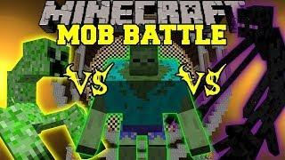 MUTANT ENDERMAN VS MUTANT CREEPER VS MUTANT ZOMBIE - Minecraft Mob Battles - Mutant Creatures Mod