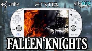 FALLEN KNIGHTS : DARK SOULS SUR PS VITA Gameplay Découverte - Test Alpha Homebrew VitaHEX Games VPK