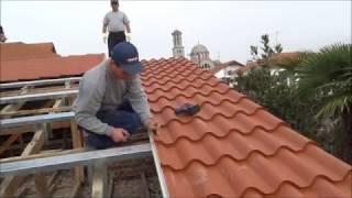 DOMOLAM Roman tiles panels with hidden fixing