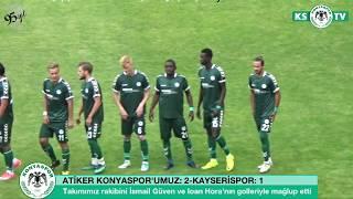 Atiker Konyaspor'umuz özel maçta Kayserispor'u 2-1 mağlup etti