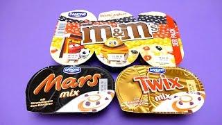 M&M's Danone Vanilla Joghurt, Danone Mars & Twix Mix Desserts