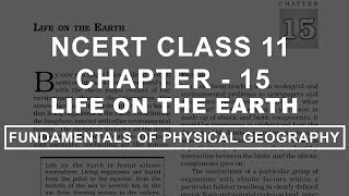 Life on the Earth - Chapter 15 Geography NCERT Class 11