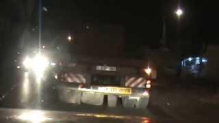 مطاردة الشرطة الاسرائيلية -طولكرم - شحن مرسيدس