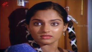 Madhavi In Small Scene || Chattaniki Kallu Levu Movie || Chiranjeevi, Madhavi