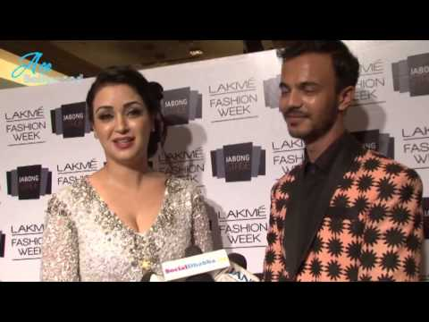 Maryam Zakaria in Sparkly Gown at L F W 2014
