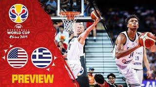 USA v Greece Preview   Best Plays of each team so far   FIBA Basketball World Cup 2019