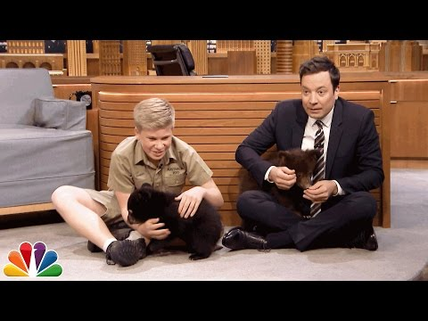 Download Robert Irwin and Jimmy Play with Baby Black Bears