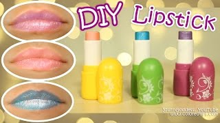DIY Lipstick - How To Make Lipstick in 5 minutes WITHOUT Crayons and Any Special Materials