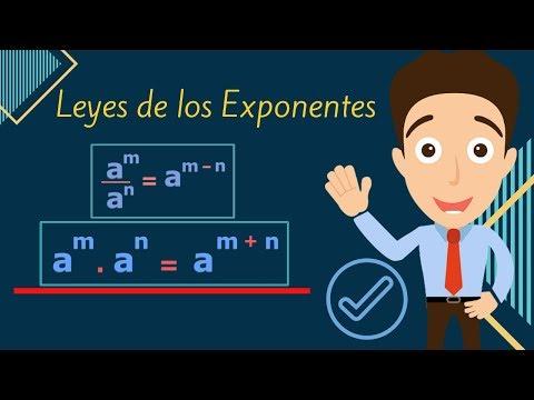 LEYES DE LOS EXPONENTES. Ejercicios laws of exponents