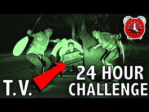 24 HOUR OVERNIGHT CHALLENGE IN THE MIDDLE OF THE ROAD