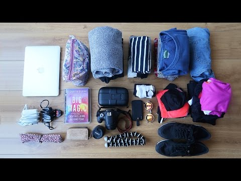 MINIMALIST PACKING FOR A WEEK AWAY