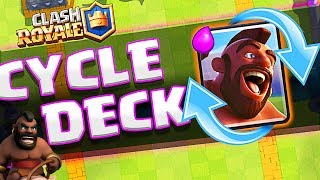 New Clash Royale CHEAP CYCLE DECK!