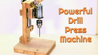 How to Make a Drill Press Machine at Home