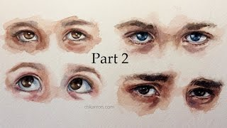 Watercolor sketch Eyes part 2 by Ch.karron