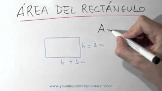 Cuál es el área del rectángulo - Fórmula para calcular área