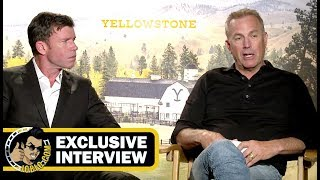 Kevin Costner and Taylor Sheridan YELLOWSTONE Interview! (JoBlo.com Exclusive)