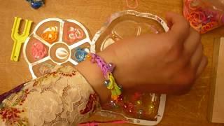 اعمال يدوية من المطاط والخرز لصنع اسوارة للبنوتات Rainbow Loom